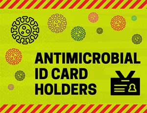 Antimicrobial ID Card Holders Banner