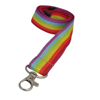 Flat Ribbed Rainbow Lanyard