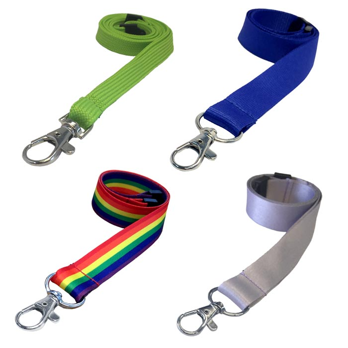 Plain Coloured Lanyards