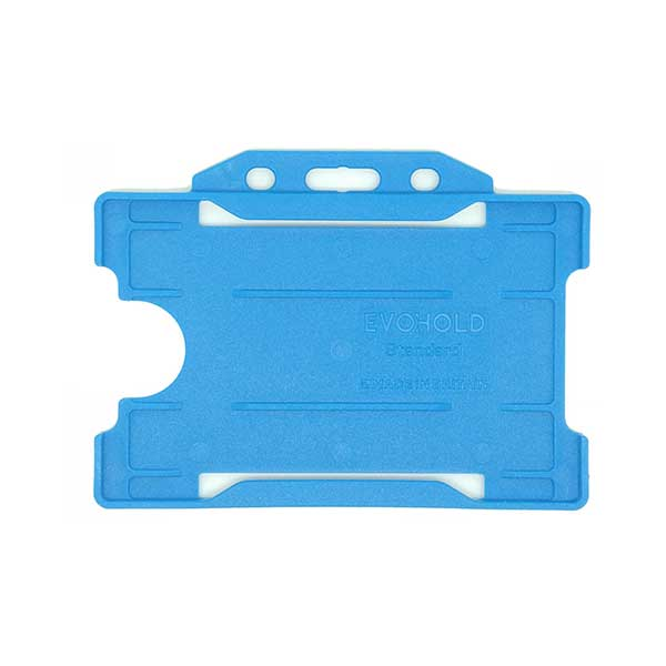 Cyan Antimicrobial ID Card Holder