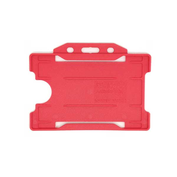 Red Antimicrobial ID Card Holder