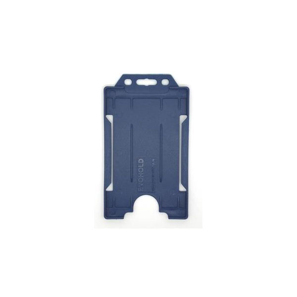 Navy Blue Antimicrobial ID Card Holder
