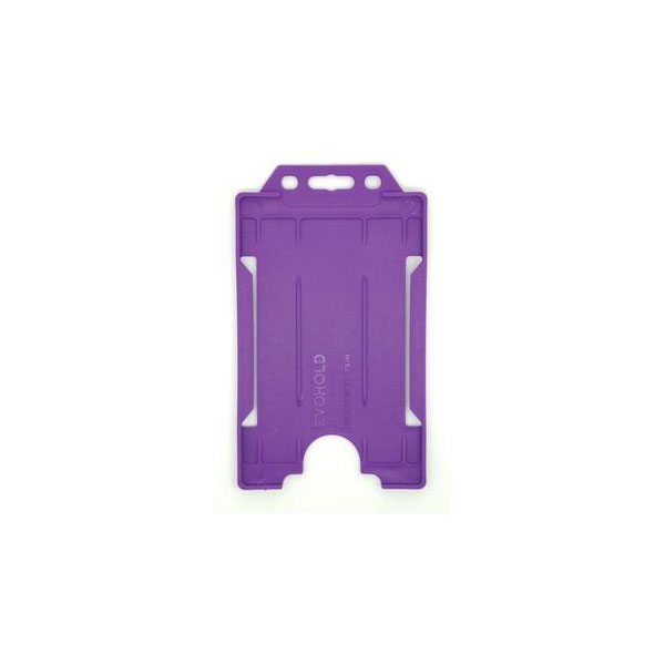 Purple Antimicrobial ID Card Holder