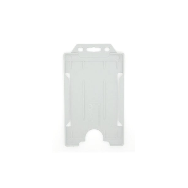 White Antimicrobial ID Card Holder