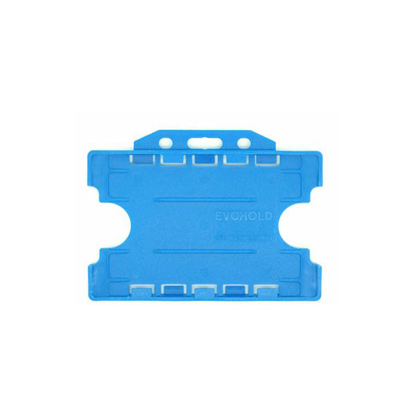 Cyan Antimicrobial Double ID Card Holder