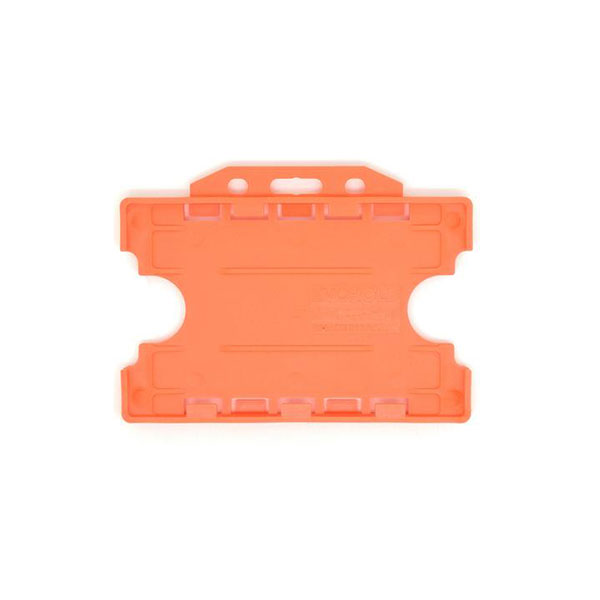 Orange Antimicrobial Double ID Card Holder