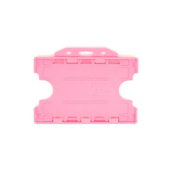 Pink Antimicrobial Double ID Card Holder