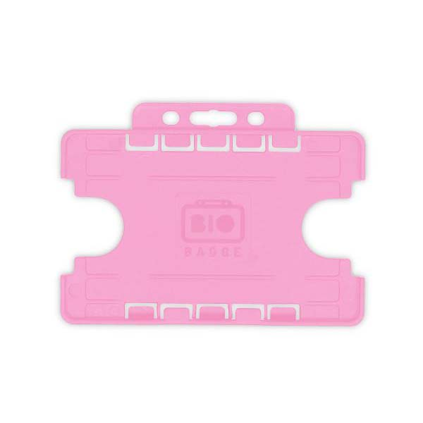Pink Biodegradable Double ID Card Holder