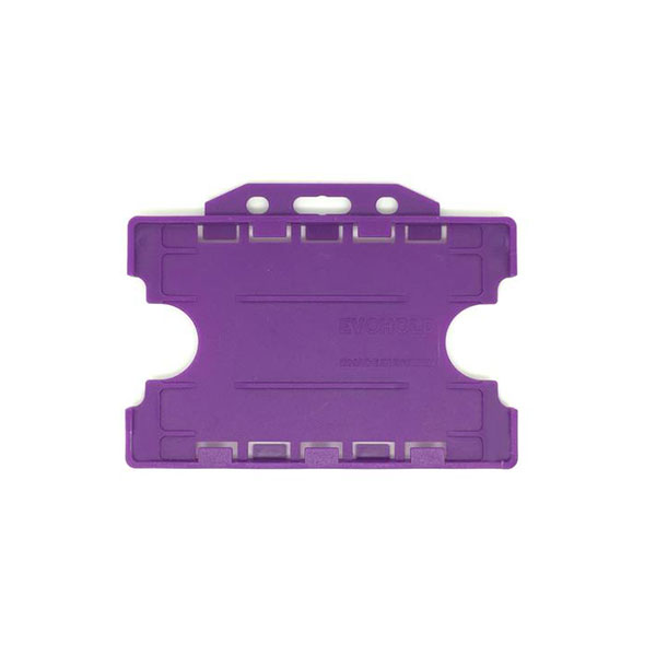 Purple Antimicrobial Double ID Card Holder