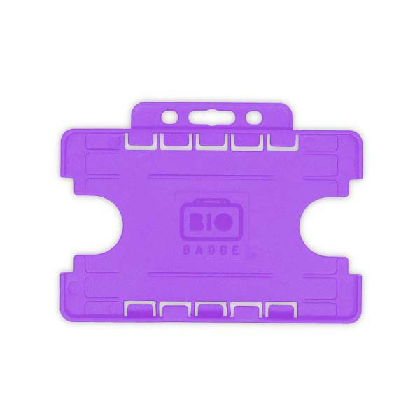 Purple Biodegradable Double ID Card Holder