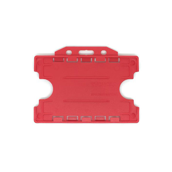 Red Antimicrobial Double ID Card Holder