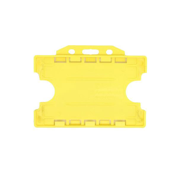 Yellow Antimicrobial Double ID Card Holder