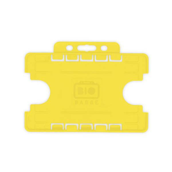 Yellow Biodegradable Double ID Card Holder