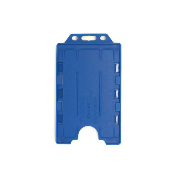 Royal Blue Antimicrobial Double ID Card Holder