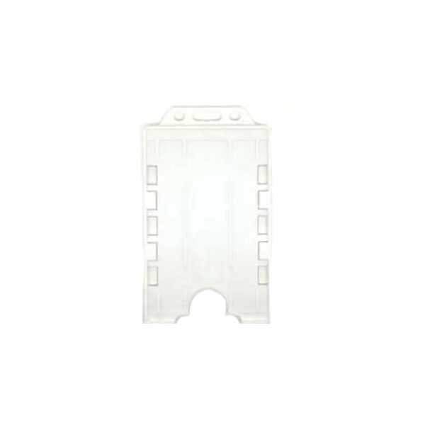 White Antimicrobial Double ID Card Holder
