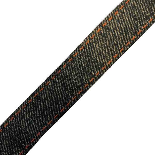 Black Denim Lanyard Swatch - Denim Effect