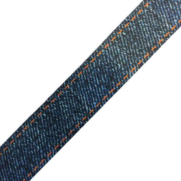 Blue Denim Lanyard Swatch - Denim Effect
