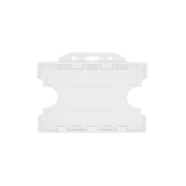 Clear Antimicrobial Double ID Card Holder