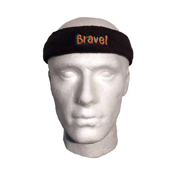 Custom Branded Head Sweatband - Side View