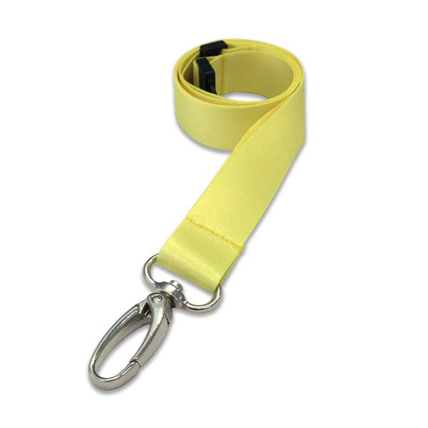 Yellow Lanyard - Premium Smooth Plain Lanyard