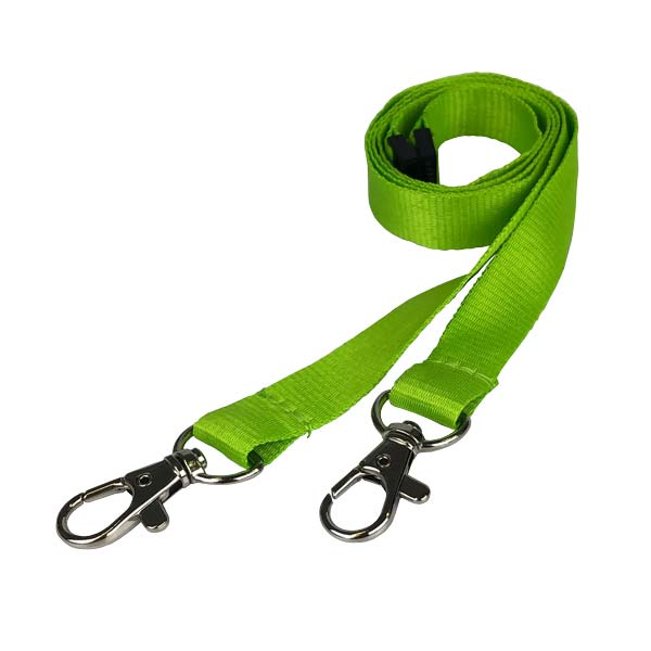 Lime Green Double Clip Lanyard