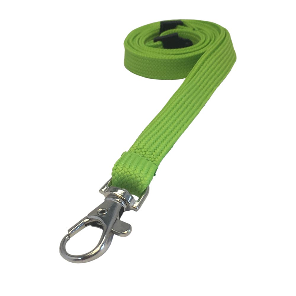 Lime Green Lanyard - Tubular Lanyard - 1cm Plain Coloured Lanyard