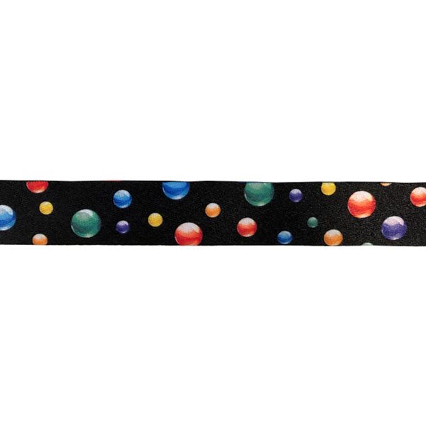 Mutlicoloured Bubbles Lanyard - Print Detail