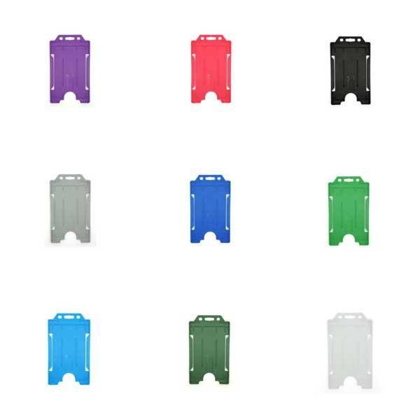 Standard Plastic ID Card Holder - Portrait
