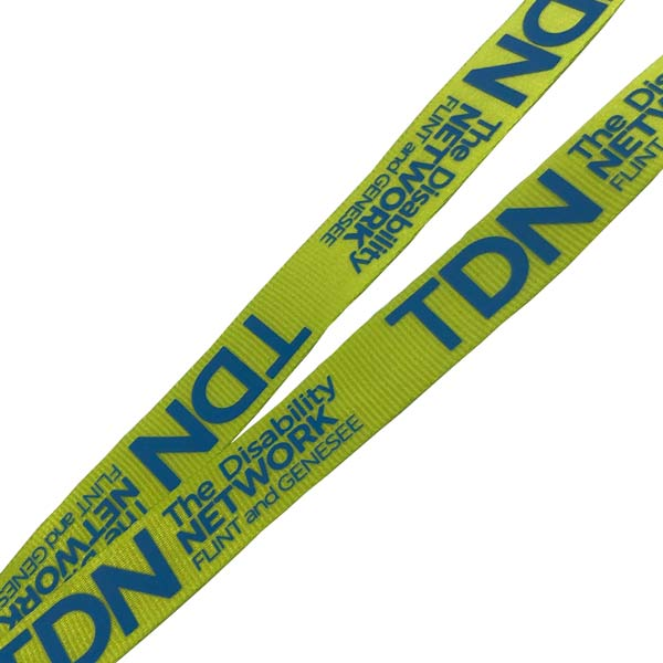 Printed Nylon Lanyard - Detail Showing Print