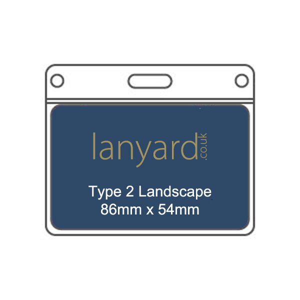 Type 2 PVC Name Badge Holder