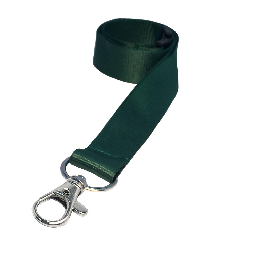 2cm Flat Ribbed Racing Green Lanyard