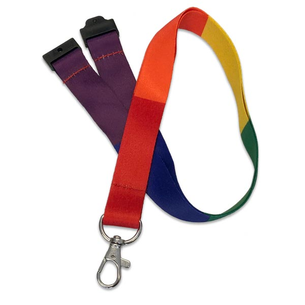 Rainbow Block Lanyard