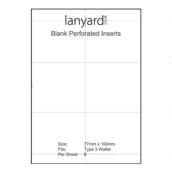 Type 3 Blank Insert