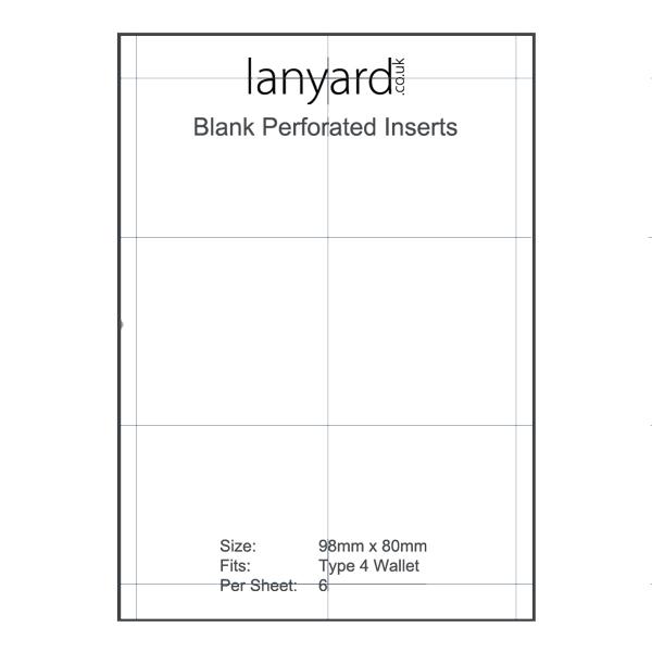 Type 4 Blank Insert