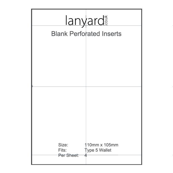 Type 5 Blank Insert