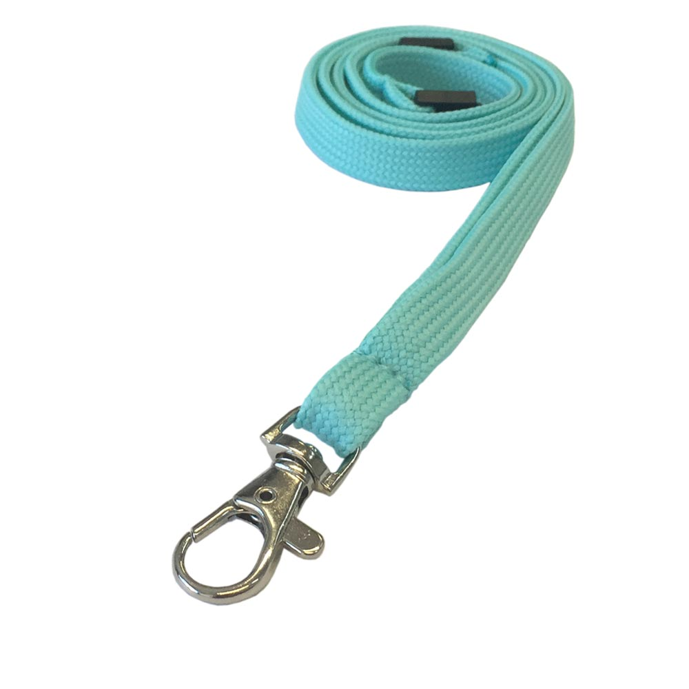 Turquoise Lanyard - Tubular Lanyard - 1cm Plain Coloured Lanyard