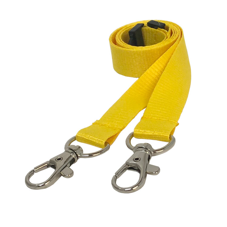 Yellow Double Clip Lanyard