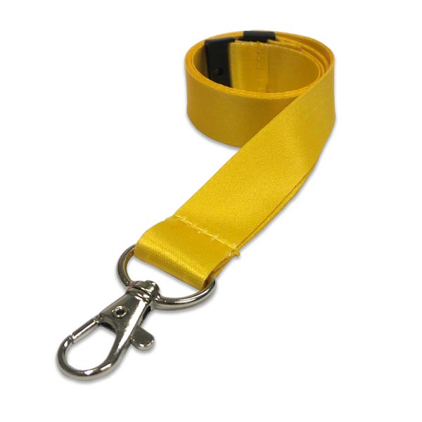 Yellow SmoothSatin Lanyard