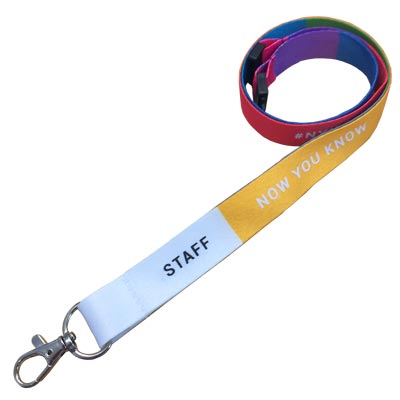 Luxury Smooth Lanyard - We print lanyards via heat transfer then screen over printing